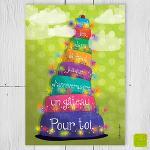 """Carte d'anniversaire """"Gâteau là-haut"""""""