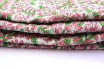 100% Cotton Sanganeri Women Running Floral Fabric