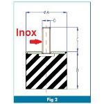 PLOT INOX CAOUTCHOUC/MALE
