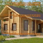 CYLINDER LOG PREFAB HOUSE KITS @200 USD