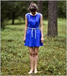 Vestito di lino organico in ecopelle con fodera in seta