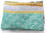 Kantha Quilt Throw Reversible Blanket Indian Bedspread Ralli