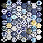 Heqzagonal Mosaic Tiles