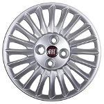 Serie 4 coperchi coppe ruota R15 Fiat - Grande Punto Logo Ro