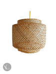 Foldable Bamboo Pendant Light