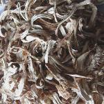 shiitake mushroom stipe strip