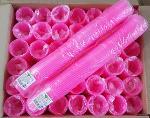 Пластиковый одноразовый стакан Розовые 200 мл