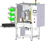 Ultrasonic machine with material feeding system