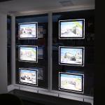 A3 Doppelseitig LED Fenster Display Immobilienmakler