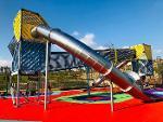 New line children playground eqp.with stainless steel slides
