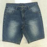 Men's denim shorts Stonewashed blue jeans middle pants