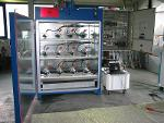 Heated testing stands