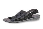 Black men's sandals with a strap