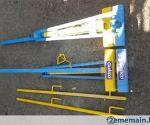 taquet bleu et jaune