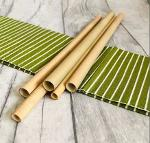 Natural Bamboo Drinking Straws – 22cm |Set of 6 with A Clean