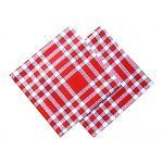 Serviette de table coton vichy rouge