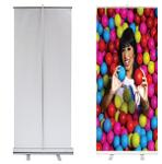 Roll Up Banner 80x200cm Aluminum Stand
