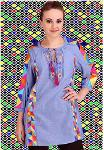 100% cotton cambre embroidered Tunic top