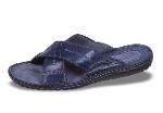 Dark blue men's slippers