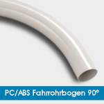 PC/ABS Fahrrohrbogen 90° - Halogenfrei