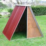 Shelter in Sheet Metal for sheep, pigs, goats