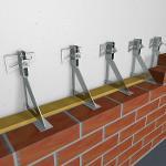 Interception brackets for facing brickwork