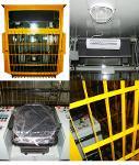 Operator cabins for machine loading scrap in the converter