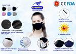 Antibacterial Reusable Cloth Face Mask - 3ply cover (FDA,CE)