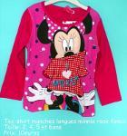 Tee-shirt Manches Longues Minnie Hello Disney