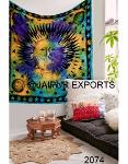 New Indian Tie Dye Sun Printed Wall Hanging Tapestries