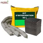Kit d'intervention absorbant 50 L