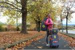 Valise à roulettes et sacs à dos