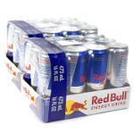 Bevande energetiche di Red Bull 250ml e Monster. 500ml
