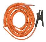 Coiled Grounding Cable with 1-pole Clamp, for EKK-3,...