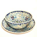 Handpainted Bowl and Plate