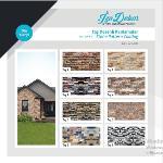 Smooth surface stone patterned coating panels