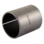 Wrapped composite dry sliding bearing stainless steel / PTFE