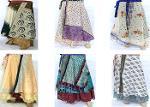 reversible skirt indian vintage silk sari skirt tube dress