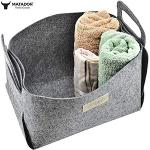Bathroom Storage Baskets, Felt Material, Adjustable