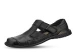 Men's sandals in black with velcro