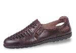 Dark brown leather men's sandals