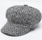 Women Fashion Tweed Newsboy Hat Plain Blank 8 Panel Caps