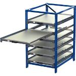 Compact pull-out rack 100 % with 3 - 7 shelves