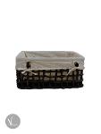 Black Water Hyacinth Square Pattern Box