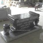 Natural Stone Memorials Bench For Cremation
