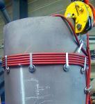 Flexibler Induktor für die Schweißnahtvorwärmung