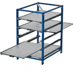 Compact pull-out rack 70 % two-way shelves