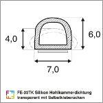 FE-03TK Silikon Hohlkammerdichtung transparent