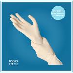 Med. Handschuhe, Nitrile, Weiß (Reinraum)