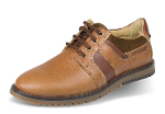 Brown men's shoes with suede elements